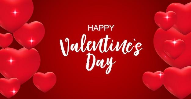 San valentino amore e sentimenti vendita sfondo design. Vettore Premium