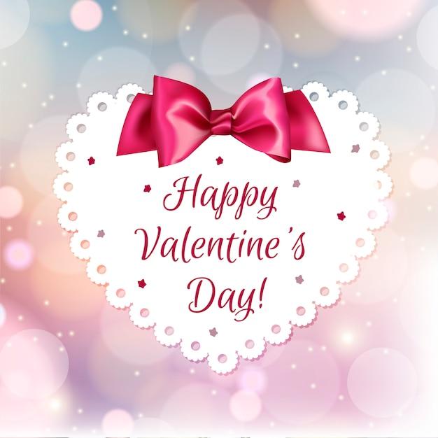 San Valentino Carino Bianco Su Uno Sfondo Rosso Brillante