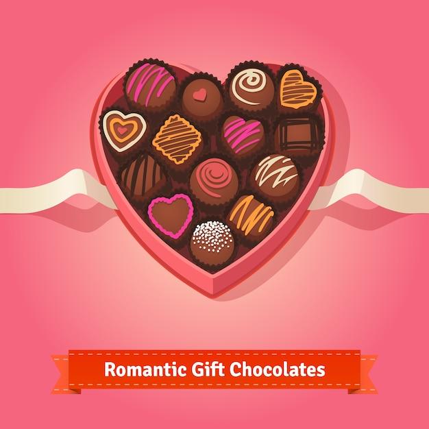 San valentino, cioccolatini di compleanno in scatola Vettore gratuito
