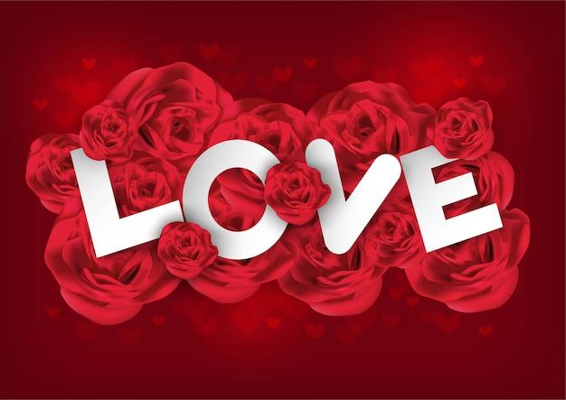 San valentino con rosa Vettore Premium