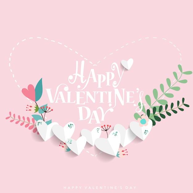 San valentino design di sfondo Vettore Premium