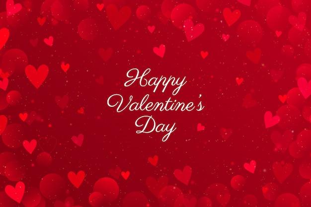 San valentino rosso con cuori. Vettore Premium
