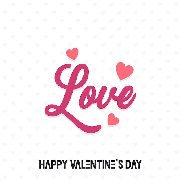 San valentino sfondo astratto Vettore Premium