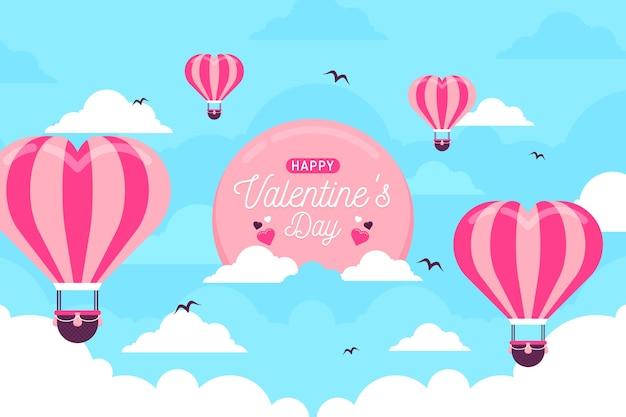 San valentino sfondo in design piatto Vettore gratuito