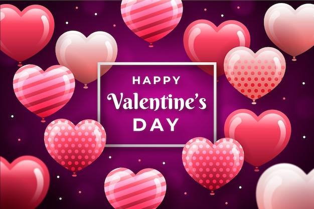 San valentino sfondo piatto Vettore gratuito