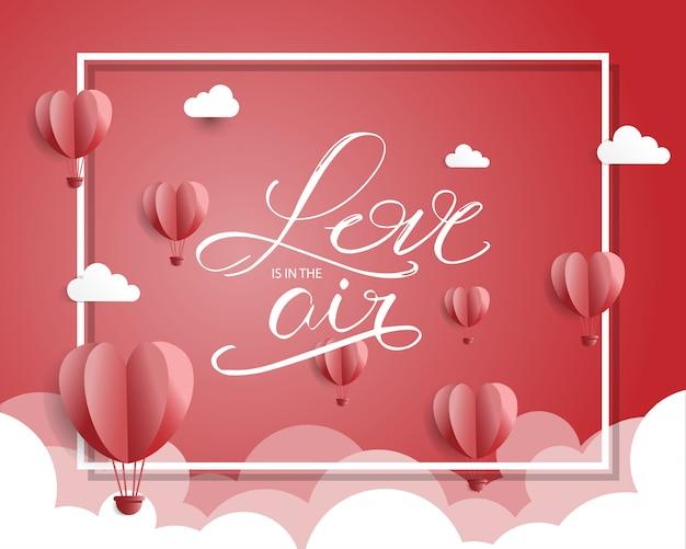 San valentino sfondo Vettore Premium