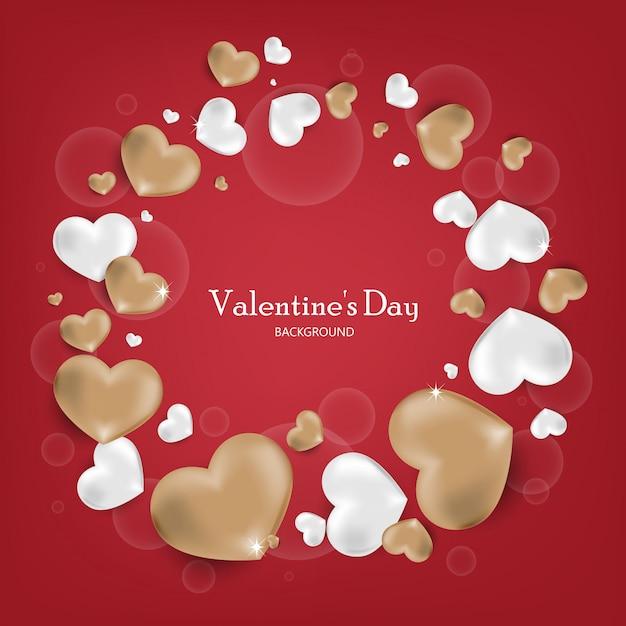 San valentino sullo sfondo. Vettore Premium