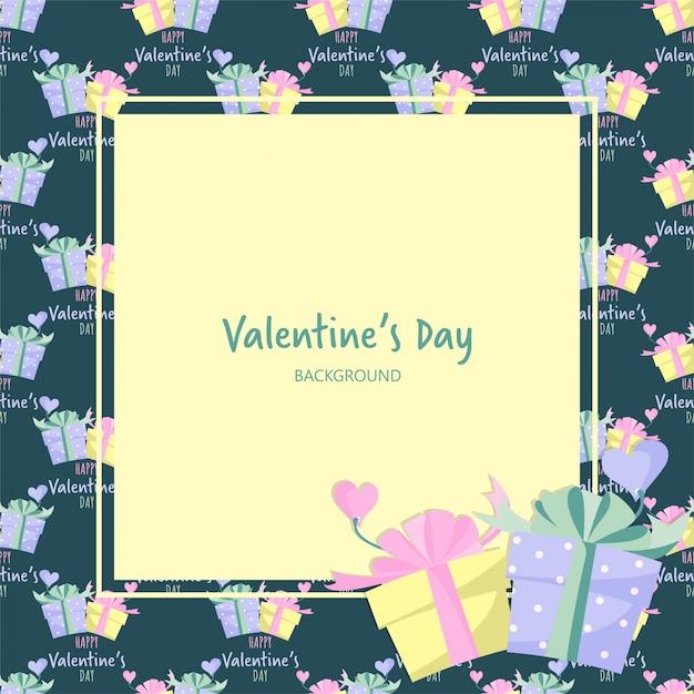 San valentino sullo sfondo Vettore Premium