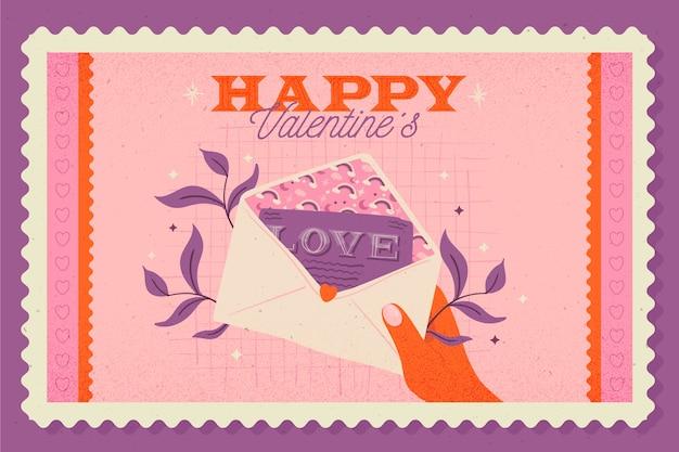 San valentino vintage sfondo Vettore gratuito