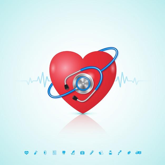 Sanità e concetto medico Vettore Premium