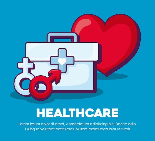 Sanità e cuore Vettore gratuito