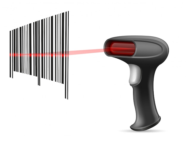 Scanner di codici a barre Vettore Premium