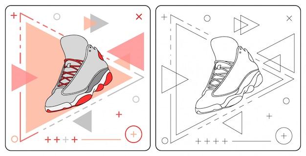 Scarpe da basket facilmente modificabili Vettore Premium