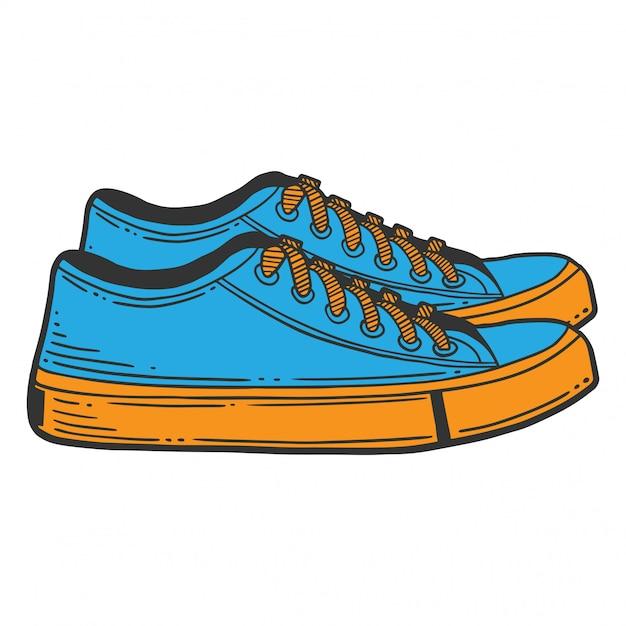 Scarpe da ginnastica blu Vettore Premium