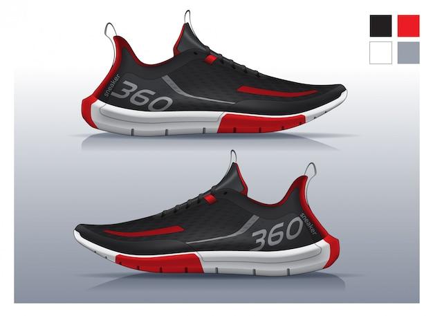 Scarpe da running, design sneakers Vettore Premium
