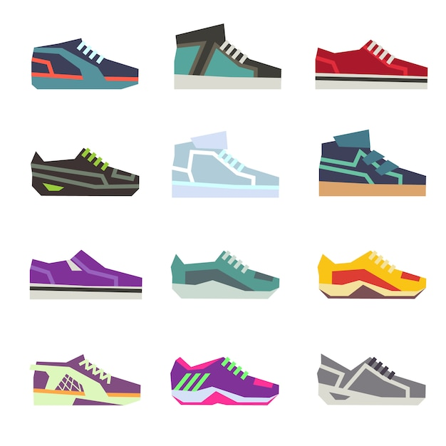 Scarpe sportive, scarpe piatte calzature sportive diverse
