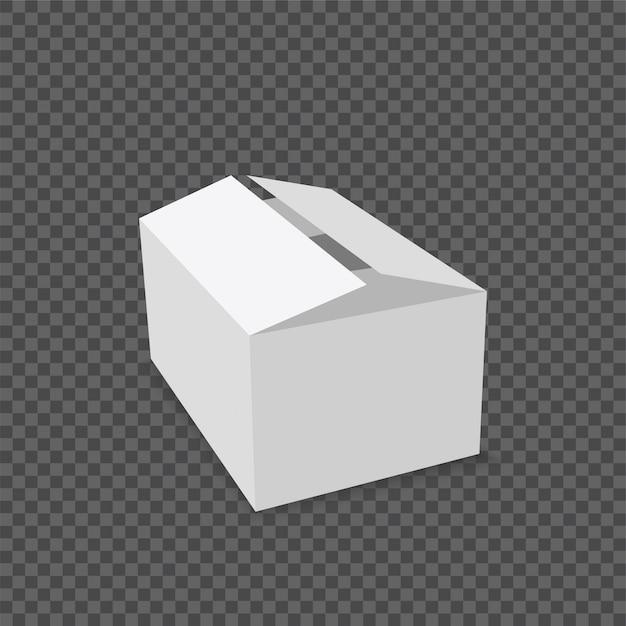 Scatola di cartone bianco prodotto Vettore Premium