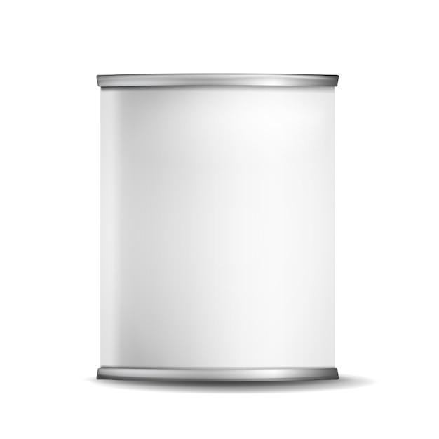 Scatola di latta di metallo Vettore Premium