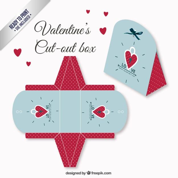 Scatola giorno di san valentino in colore rosso e blu - Colore del giorno di san valentino ...