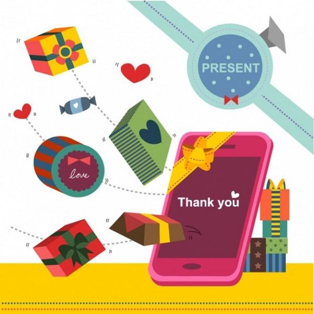 Scatole regalo colorate e mobili scaricare vettori gratis for Regalo mobili gratis