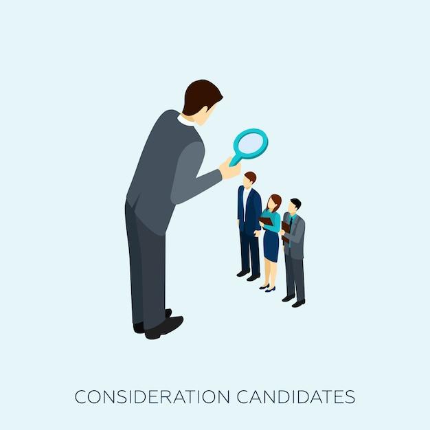 Scelta dell'illustrazione di concetto del candidato Vettore gratuito