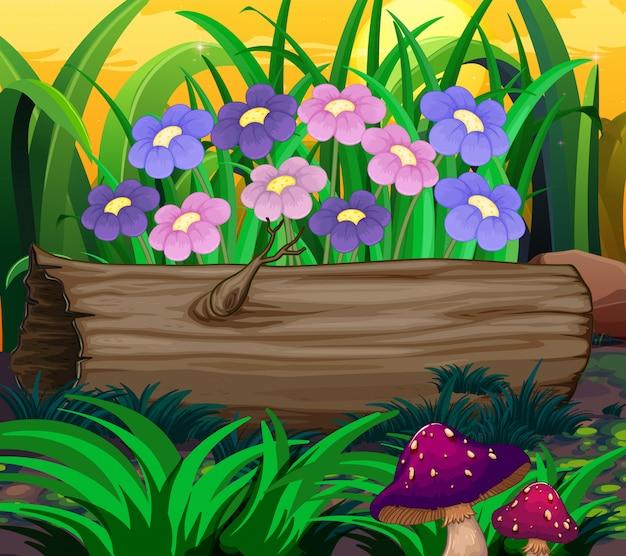 Scena di sfondo con tema natura Vettore gratuito