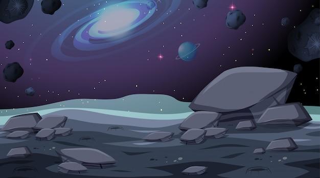 Scena di sfondo spazio isolato Vettore gratuito