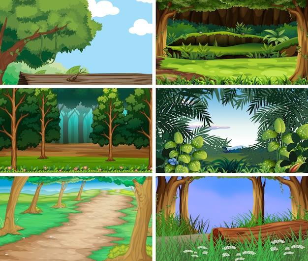 Scene di natura paesaggio vuoto, vuoto Vettore gratuito