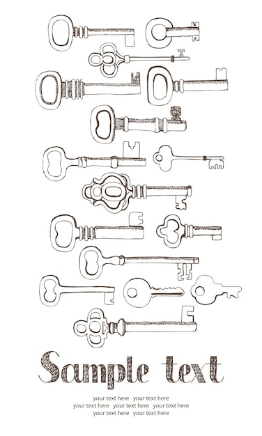 Scheda chiavi Vettore gratuito