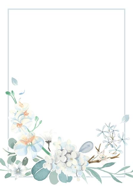 Scheda dell'invito con un tema azzurro Vettore gratuito