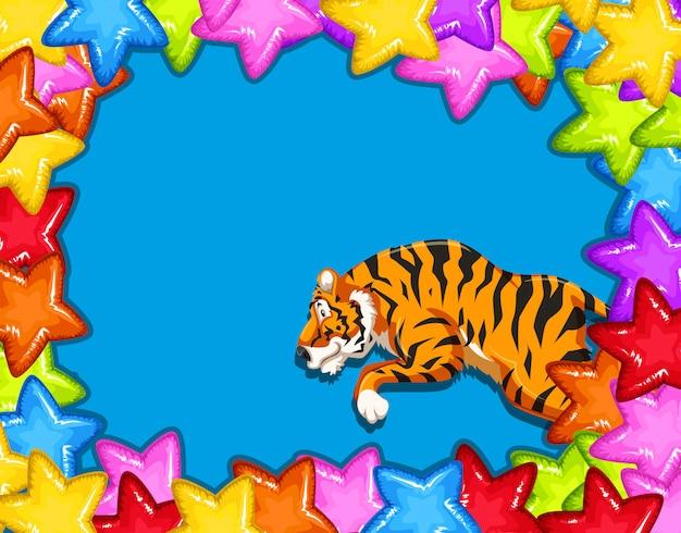 Scheda di celebrazione con tigre Vettore gratuito