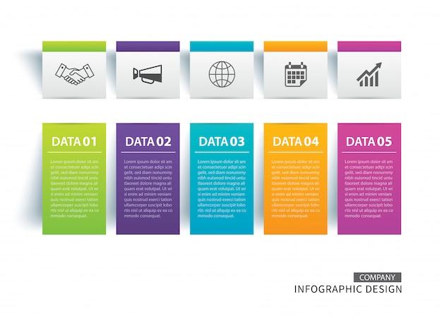 Scheda infografica Vettore Premium