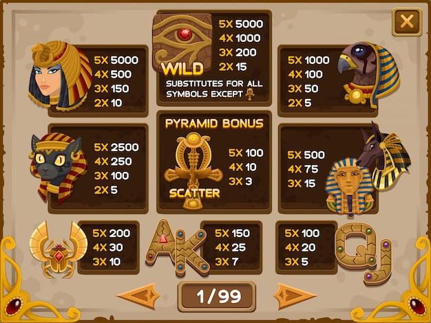 Schermata informativa per il gioco di slot Vettore Premium