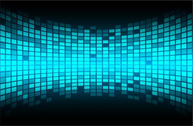 Schermo a led blu per presentazioni cinematografiche. Vettore Premium