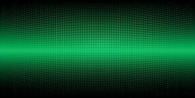 Schermo cinematografico led verde per presentazioni di film Vettore Premium