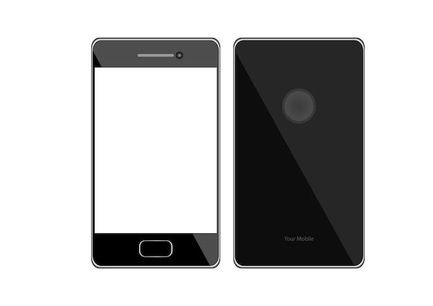 Schermo Del Telefono Cellulare Isolato Su Sfondo Bianco Scaricare
