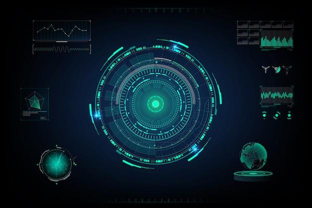 Schermo di design futuristico Vettore Premium