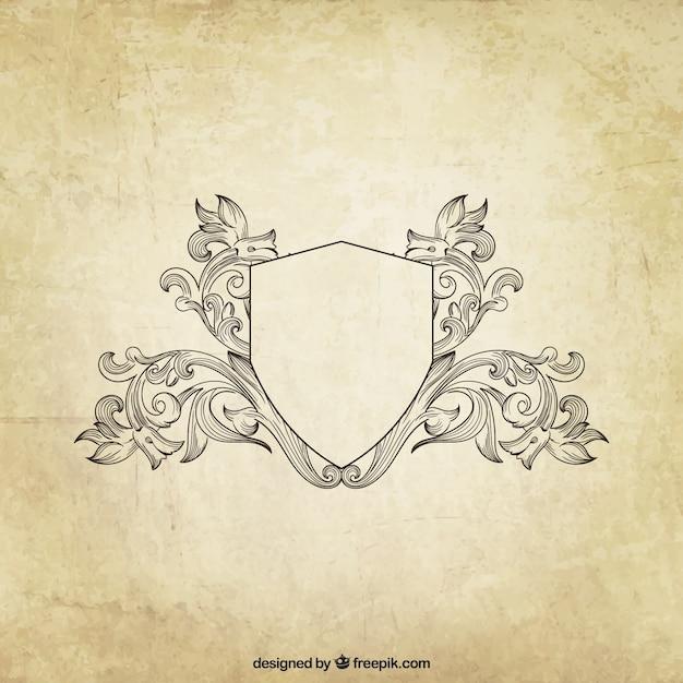 Schermo ornamentale in stile retrò Vettore gratuito