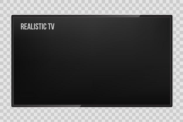 Schermo tv, pannello lcd, display monitor del computer. Vettore Premium
