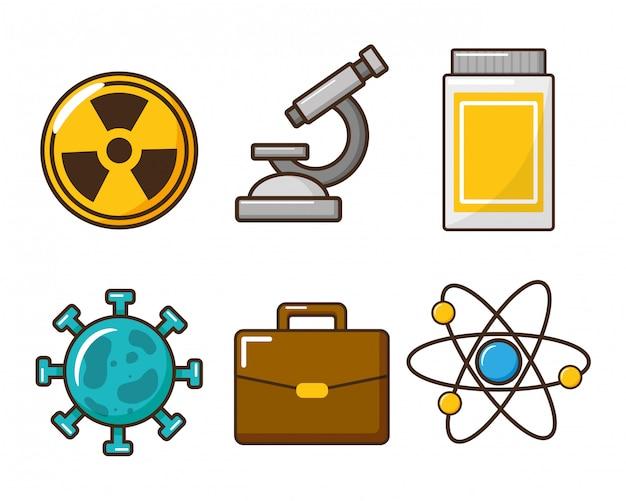 Scienza degli strumenti di laboratorio Vettore gratuito
