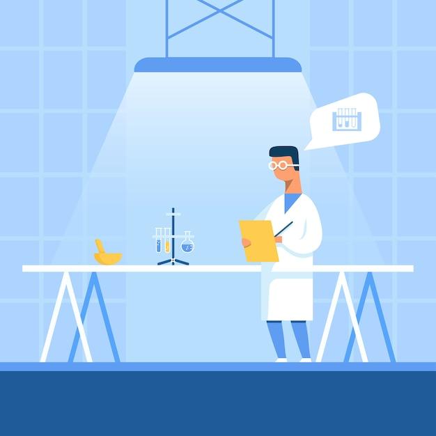 Scienziato noting ha ricevuto risultati sperimentali Vettore Premium