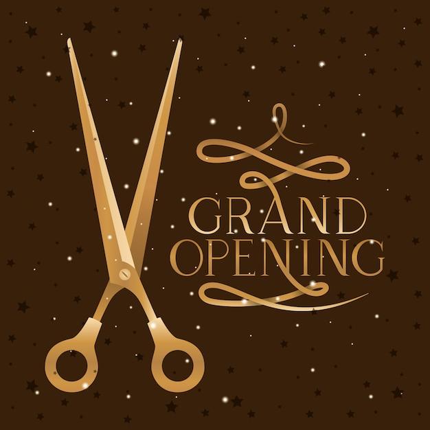Scissor e grande apertura Vettore gratuito