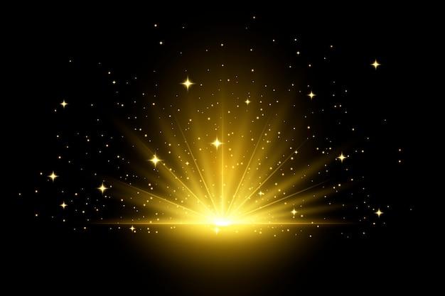 Scoppiare effetto luce alba Vettore gratuito