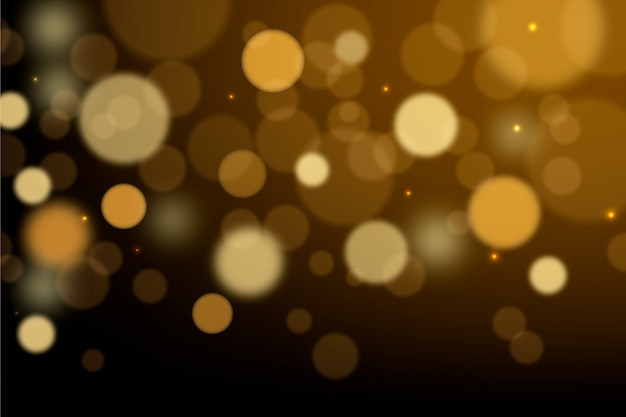 Screensaver effetto luci bokeh Vettore gratuito