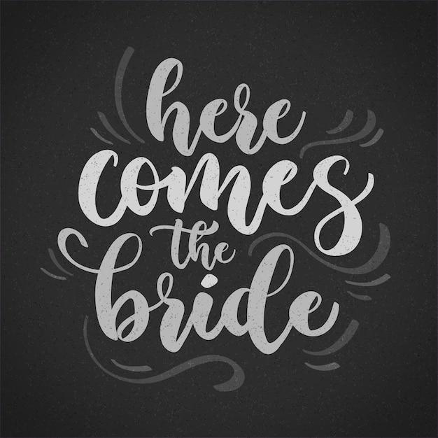 Scritte di nozze sulla lavagna Vettore gratuito