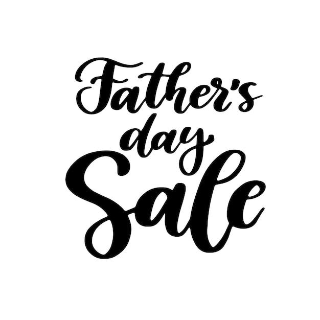 Scritte scritte a mano di vendita di festa del papà. Vettore Premium