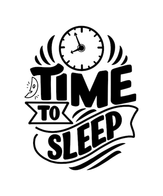 Scritte sul sonno e la buona notte Vettore Premium