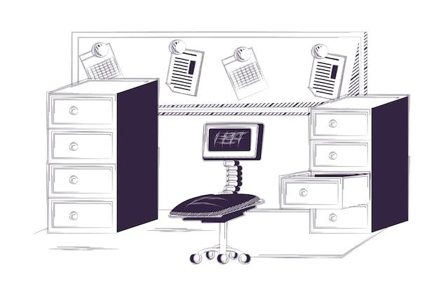 Ufficio Retro Verso : Scrivania e forniture per ufficio scaricare vettori premium
