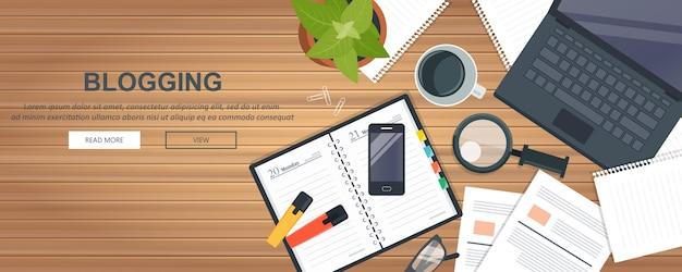 Scrivere una storia o una colonna per il giornale Vettore Premium