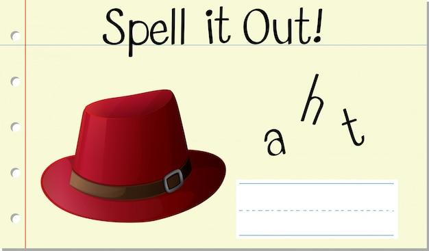 Scrivi parola cappello inglese Vettore gratuito